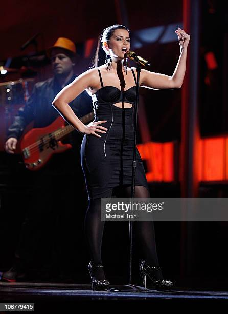 Nelly Furtado performs onstage at the 11th Annual Latin Grammy Awards at Mandalay Bay Events Center on November 11 2010 in Las Vegas Nevada