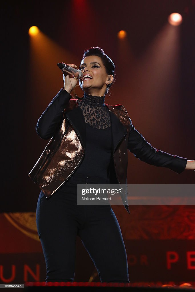 Nelly Furtado performs onstage at the One World Concert at Syracuse University on October 9, 2012 in Syracuse, New York.