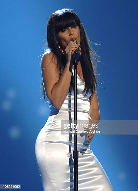 Nelly Furtado performs Say It Right during 2006 Annual American Music Awards Show at Shrine Auditorium in Los Angeles California United States