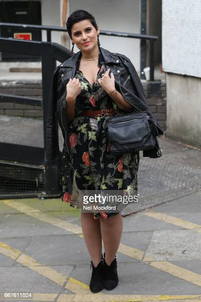 Nelly Furtado seen leaving the ITV Studios after promoting her new album 'The Ride' on Loose Women on April 12 2017 in London England