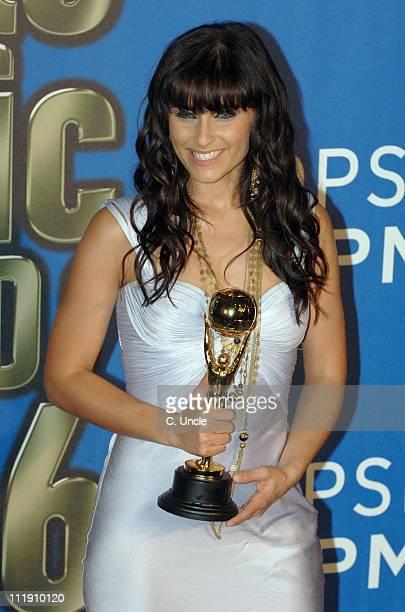 Nelly Furtado winner of Best Rock/Pop Artist during 2006 World Music Awards Press Room at Earls Court in London Great Britain