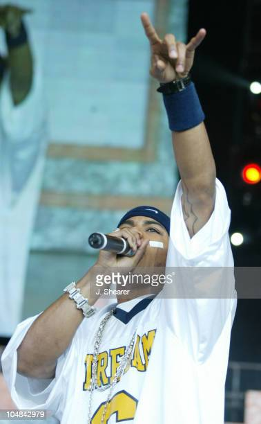 Nelly in Concert during Nellyville Tour 2002 San Francisco at Shoreline Amphitheatre in Mountain View California United States