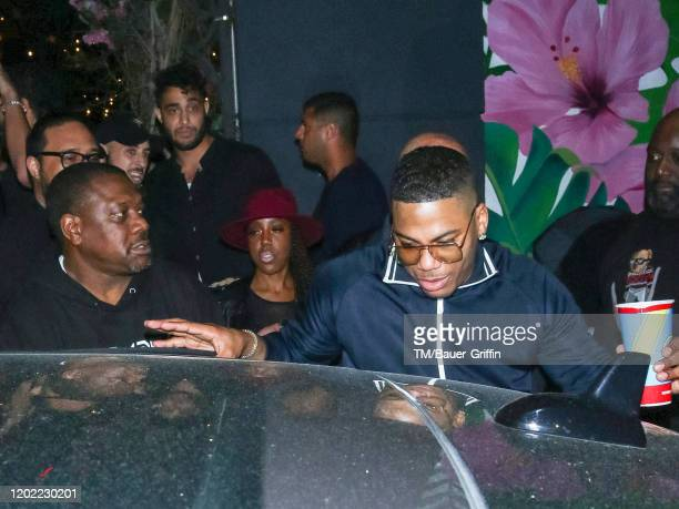 Nelly is seen on February 21 2020 in Los Angeles California