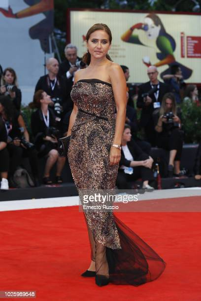 Nelly Karim walks the red carpet ahead of the 'Suspiria' screening during the 75th Venice Film Festival at Sala Grande on September 1 2018 in Venice...