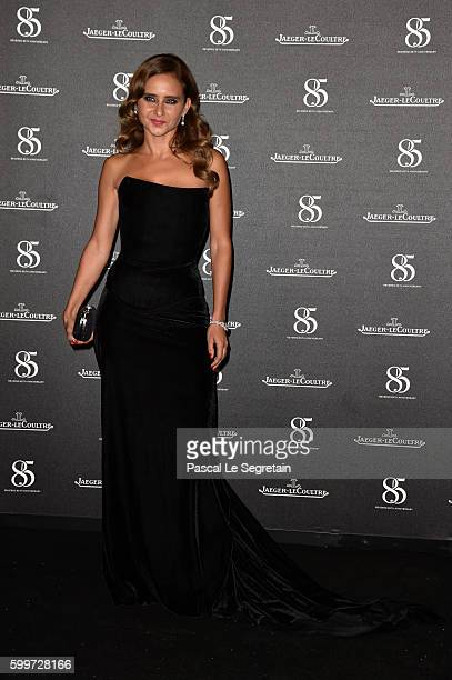 Nelly Karim wearing a JaegerLeCoutre watch attends a gala dinner hosted by JaegerLeCoultre celebrating Reverso 85th Anniversary at Arsenale during...