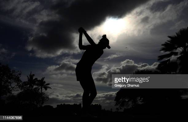 Nelly Korda hits her drive on the 18th hole during the final round of the LOTTE Championship at Ko Olina Golf Club on April 21 2019 in Kapolei Hawaii
