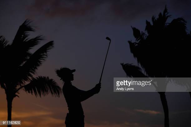 Nelly Korda hits her tee shot on the 17th hole during the second round of the Pure Silk Bahamas LPGA Classic at the Ocean Club Golf Course on January...