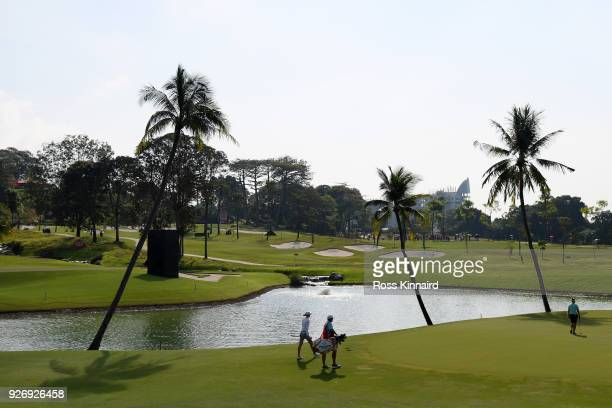 Nelly Korda of the United States walks to the second green during the final round of the HSBC Women's World Championship at Sentosa Golf Club on...