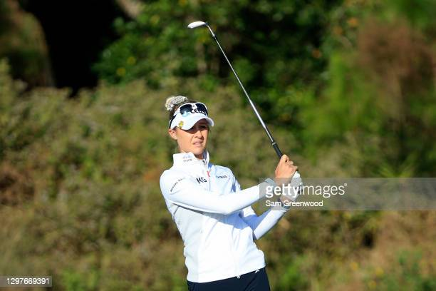 Nelly Korda plays a shot on the fourth hole during the first round of the Diamond Resorts Tournament Of Champions at Tranquilo Golf Course at the...