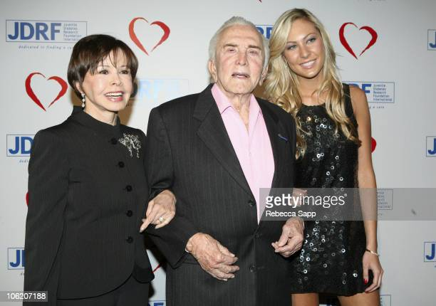 Nelly McQueen Kirk Douglas and Molly Flattery during Juvenile Diabetes Research Foundation Annual Gala Arrivals and Inside at Beverly Hilton Hotel in...