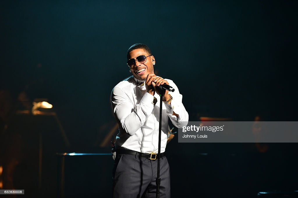 Nelly performs a Night of Symphonic Hip-Hop accompany with the Symphony of the Americas at Broward Center for Performing Arts - Au-Rene Theater on January 26, 2017 in Fort Lauderdale, Florida.