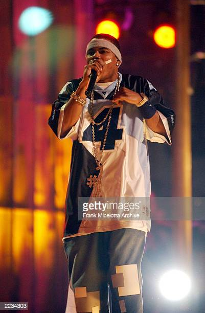 Nelly performs on the 7 Eleven One World Jam A Concert for Global Harmony at Radio City Music Hall in New York City July 11 2002 Photo by Frank...