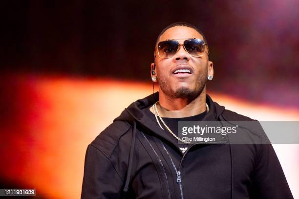 Nelly performs onstage during Kisstory The Blast Off Tour at The O2 Arena on March 11 2020 in London England