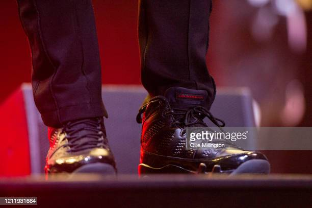 Nelly shoe detail performs onstage during Kisstory The Blast Off Tour at The O2 Arena on March 11 2020 in London England