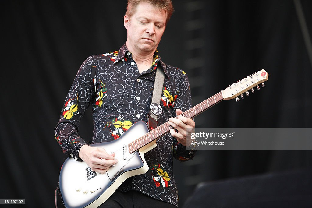 Nels Cline of Wilco during Bonnaroo 2007 - Day 3 - Wilco at What Stage in Manchester, Tennessee, United States.