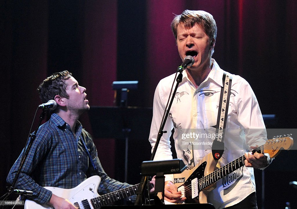 Nels Cline (R) of Wilco performs during The Last Waltz Tribute Concert at The Warfield on November 24, 2012 in San Francisco, California.