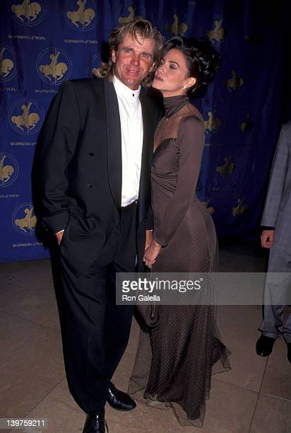 Nels Van Patten and actress Nancy Valen attend Carousel of Hope Ball Benefit on October 25 1996 at the Beverly Hilton Hotel in Beverly Hills...