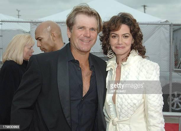 Nels Van Patten and Nancy Valen during 2005 TV Land Awards Red Carpet at Barker Hangar in Santa Monica California United States
