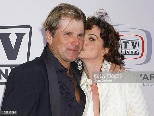 Nels Van Patten and Nancy Valen during 3rd Annual TV Land Awards Arrivals at Barker Hangar in Santa Monica California United States