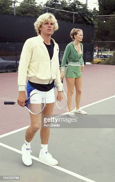 Nels Van Patten and Valerie Lundeen attend Third Annual Cathy's ProCelebrity Tennis Classic on June 25 1977 at Billy Jean King Tennis Stadium at...