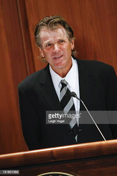 Nels Van Patten attends the Farrah Fawcett Memorabilia Donation at the Smithsonian National Museum Of American History on February 2 2011 in...