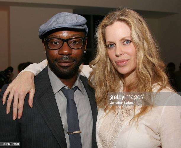 Nelsan Ellis and Kristin Bauer attend the 'True Blood' Crew Appreciation Party Hosted By Nelsan Ellis at The Carlyle Residences on July 3 2010 in Los...