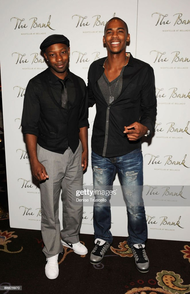 Nelsan Ellis and Mehcad Brooks arrive at The Bank at the Bellagio Hotel and Casino Resort on July 4, 2009 in Las Vegas, Nevada.