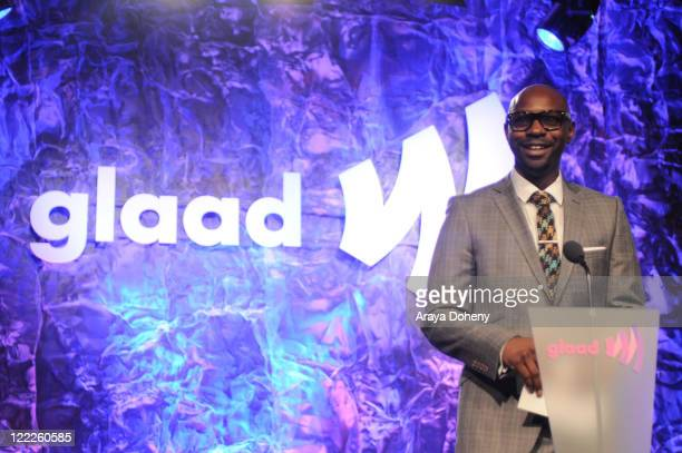 Nelsan Ellis presents at the 22nd Annual GLAAD Media Awards at San Francisco Marriott Marquis on May 14 2011 in San Francisco California