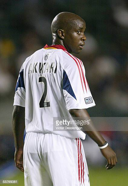 Nelson Akwari of Real Salt Lake looks on during a break in action against Chivas USA during their Major League Soccer match on May 7 2005 at the Home...