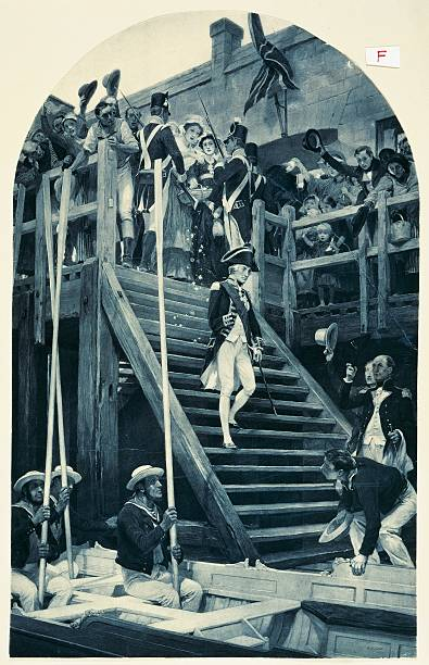 nelson boarding the victory for the last time pictures getty images