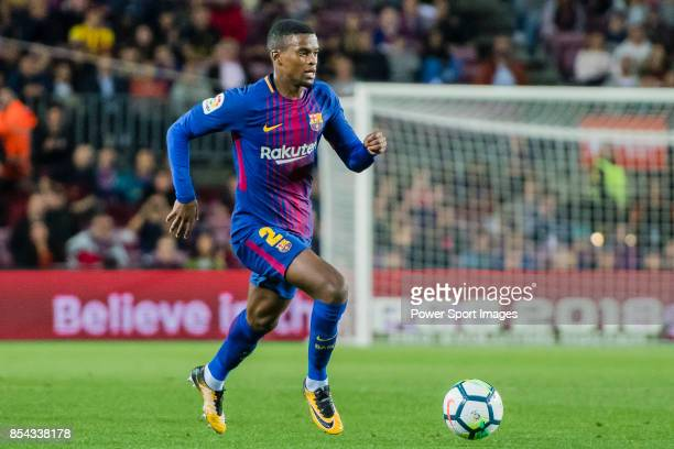 Nelson Cabral Semedo of FC Barcelona in action during the La Liga 201718 match between FC Barcelona and SD Eibar at Camp Nou on 19 September 2017 in...
