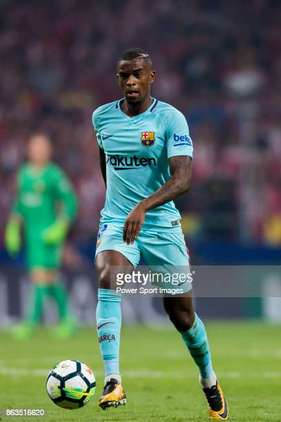 Nelson Cabral Semedo of FC Barcelona in action during the La Liga 201718 match between Atletico de Madrid and FC Barcelona at Wanda Metropolitano on...