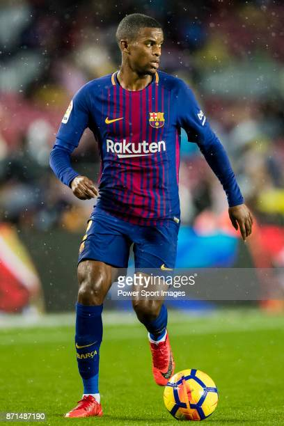 Nelson Cabral Semedo of FC Barcelona in action during the La Liga 201718 match between FC Barcelona and Sevilla FC at Camp Nou on November 04 2017 in...