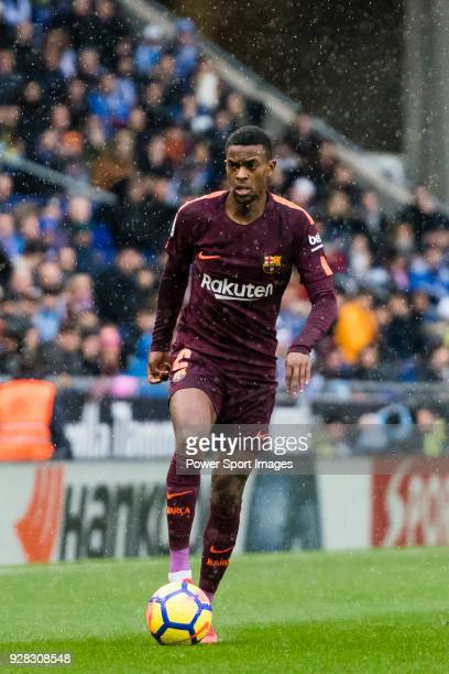Nelson Cabral Semedo of FC Barcelona in action during the La Liga 201718 match between RCD Espanyol and FC Barcelona at RCDE Stadium on 04 February...