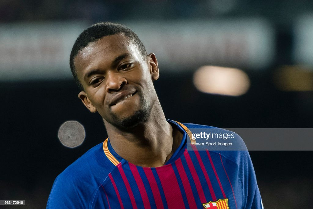 Nelson Cabral Semedo of FC Barcelona reacts during the La Liga 2017-18 match between FC Barcelona and Girona FC at Camp Nou on 24 February 2018 in Barcelona, Spain.