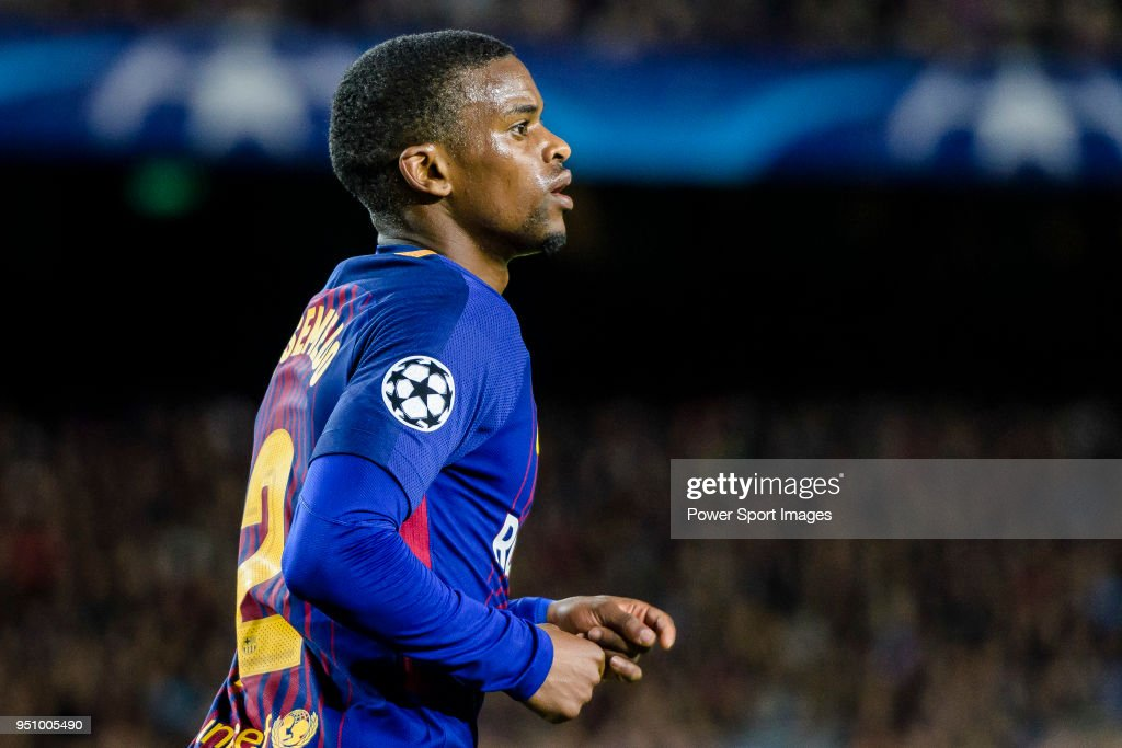 Nelson Cabral Semedo of FC Barcelona reacts during the UEFA Champions League 2017-18 quarter-finals (1st leg) match between FC Barcelona and AS Roma at Camp Nou on 05 April 2018 in Barcelona, Spain.