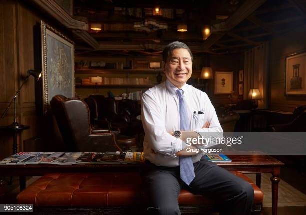 Nelson Chang chairman of Taiwan Cement is pictured in the library of a luxury hotel In 2017 Chang took over as head of the Koo family following the...