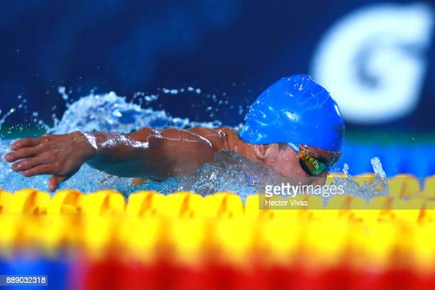 Nelson Crispin of Colombia competes in Men's 200 m Individual Medley SM67 during day 6 of the Para Swimming World Championship Mexico City 2017 at...