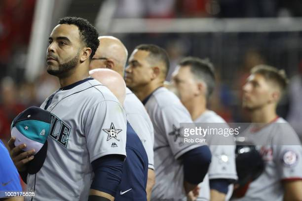 Nelson Cruz of the Seattle Mariners during the 89th MLB AllStar Game presented by Mastercard at Nationals Park on July 17 2018 in Washington DC