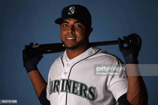 Nelson Cruz of the Seattle Mariners poses for a portrait during photo day at Peoria Stadium on February 20 2017 in Peoria Arizona
