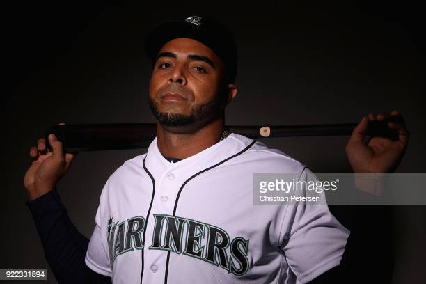 Nelson Cruz of the Seattle Mariners poses for a portrait during photo day at Peoria Stadium on February 21 2018 in Peoria Arizona