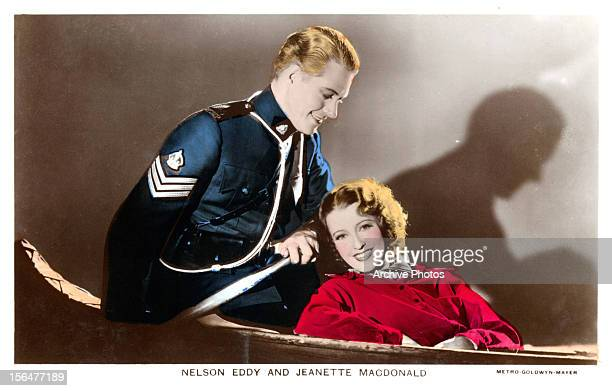 Nelson Eddy and Jeanette MacDonald in publicity portrait for the film 'RoseMarie' 1936