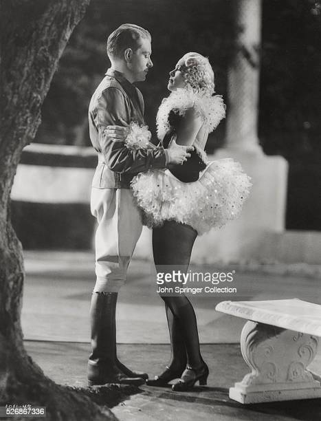 Nelson Eddy's character Dick Thorpe falls for Princess Rosalie played by Eleanor Powell in a scene from the film Rosalie
