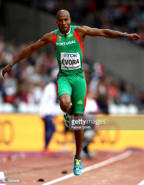Nelson Evora of Portugal competes in the Men's Triple Jump qualification during day four of the 16th IAAF World Athletics Championships London 2017...