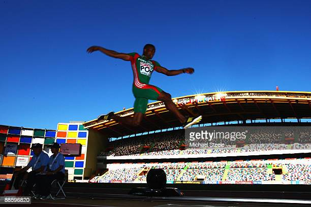 Nelson Evora of Portugal during the men's long jump during day one of the Spar European Team Championships at the Estadio Municipal DrMagalhaes...