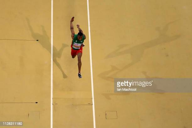 Nelson Evora of Portugal in action during qualifying rounds of the men's triple jumo on day one of the 2019 European Athletics Indoor Championships...