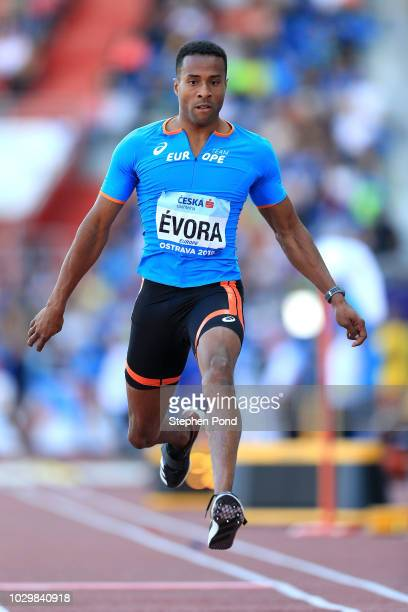 Nelson Evora of Team Europe competes in the Mens Triple Jump during day two of the IAAF Continental Cup at Mestsky Stadium on September 9 2018 in...