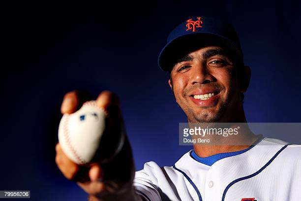 Nelson Figueroa of the New York Mets poses during Spring Training Photo Day at Tradition Field on February 23 2008 in Port Saint Lucie Florida