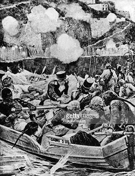 Nelson Horatio *2909175821101805Admiral GB fuehrte den Angriff auf ein span Schiff vor Santa Cruzdabei wird der rechte Arm von einemGeschoss...