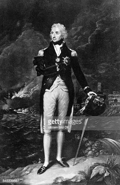Nelson Horatio *2909175821101805Admiral GB Portrait nach dem Gemaelde von Francis Abbot undatiert identisch mit Bild